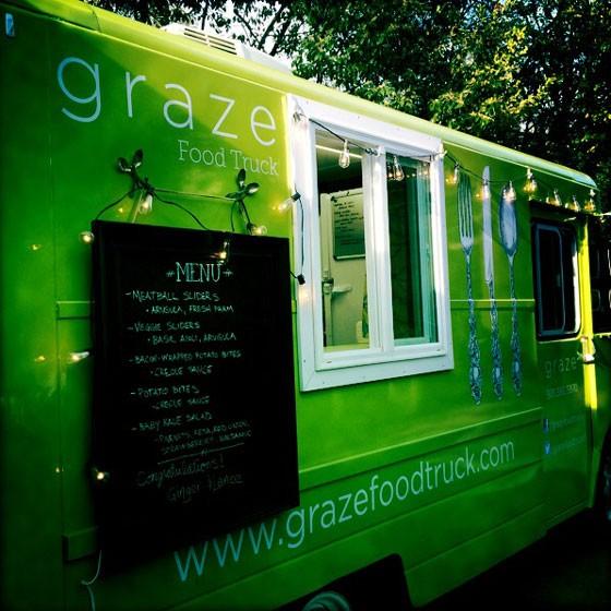 Graze food truck.   Amelia Timms