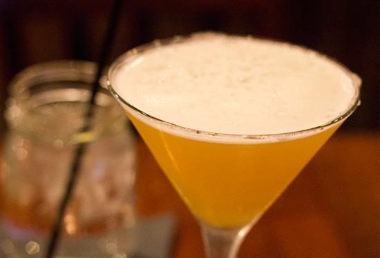 Mango Malibu, mango Schnapps and pineapple juice martini.