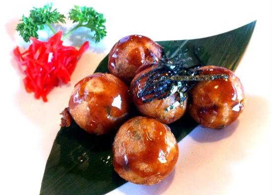Blue Ocean's Takoyaki appetizer - DANIELLE LESZCZ