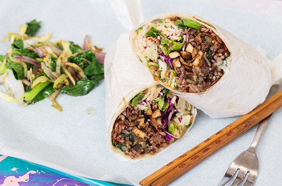 Lona's grilled chicken wrap. | Photos by Mabel Suen