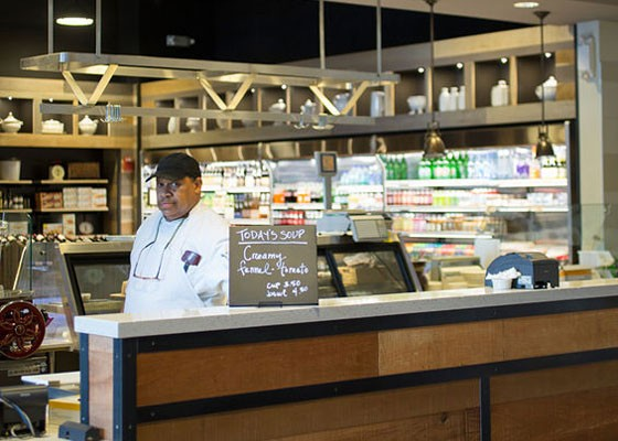 At the sandwich counter at Central Table Food Hall. | Jennifer Silverbeg