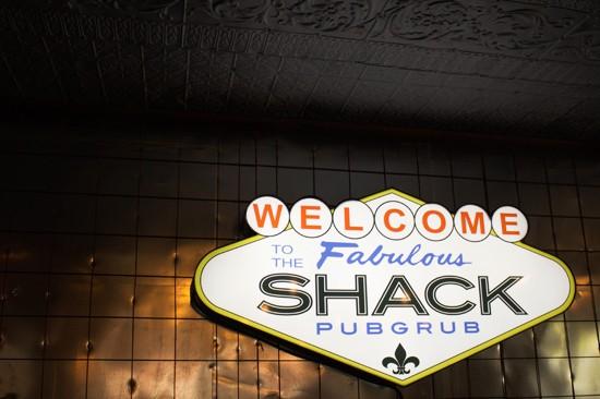 The back wall at the Shack PubGrub. - MABEL SUEN