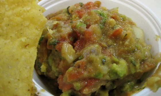 A twelve-ounce cup o' guac and a heaping serving of chips? Two bucks! - ROBIN WHEELER