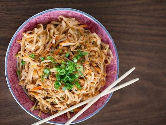A noodle dish at Famous Szechuan Pavilion - JENNIFER SILVERBERG