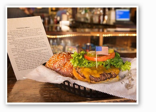 """The """"Gettysburger"""" comes with a copy of the address. 