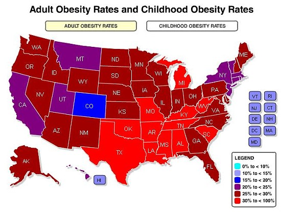 SCREENSHOT: HEALTHYAMERICANS.ORG/REPORTS/OBESITY2011/