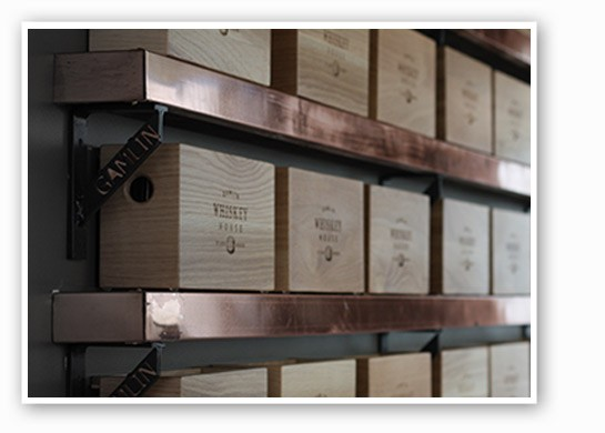 Boxes on the wall, y'all. | Gamlin Whiskey House