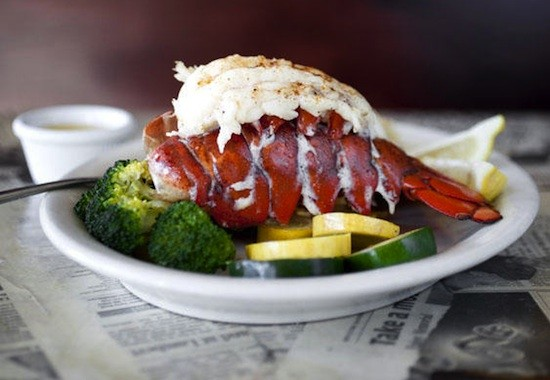 Lobster tail at Hooked Seafood bar - JENNIFER SILVERBERG