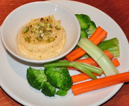 Roasted garlic hummus at WEGAP | Tara Mahadevan
