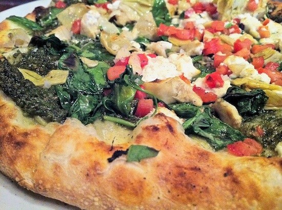 Peel's chevre pizza. - BRYAN PETERS