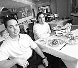 The DelPietro brothers inside Luciano's Trattoria circa 2003. - JENNIFER SILVERBERG