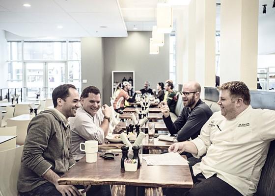 From left to right: owner Brendan Marsden, owner Tom Ferrara, owner Jon Rankins, and executive chef Jon Hoffman. | Jennifer Silverberg
