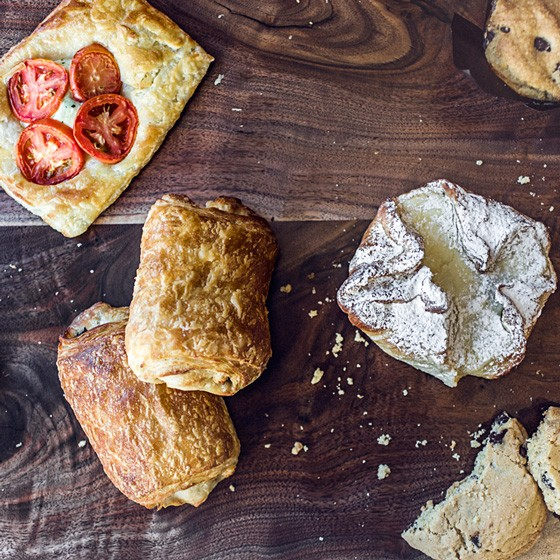 Assorted pastries available at the counter. | Jennifer Silverberg