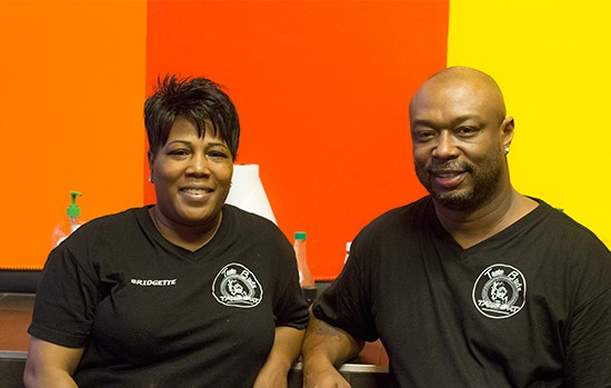 Co-owners Bridgette and Eric Tomlin.