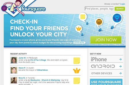 SCREENSHOT: FOURSQUARE.COM