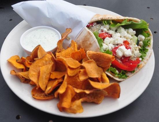 The veggie wrap is a Middle Eastern style delight.   Tara Mahadevan
