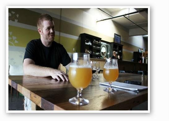 Cory King explains the finer pints of brewing.   Pat Kohm