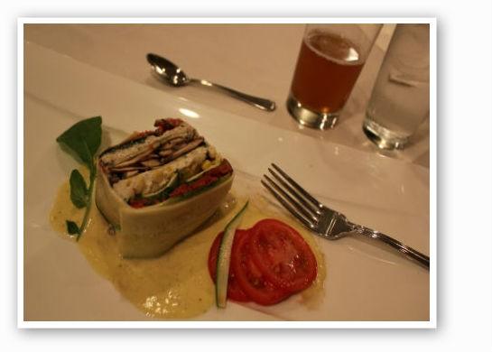 A veggie delight -- lasagne.   Pat Kohm