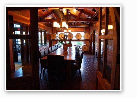 We always eat Thanksgiving dinner in a barrel-aging room, duh. | Ettie Berneking