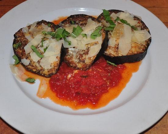 Eggplant parmigiano at Sugo's. - TARA MAHADEVAN