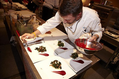 Chef Carl Hazel of Eleven Eleven Mississippi during Iron Fork 2012 | Steve Truesdell