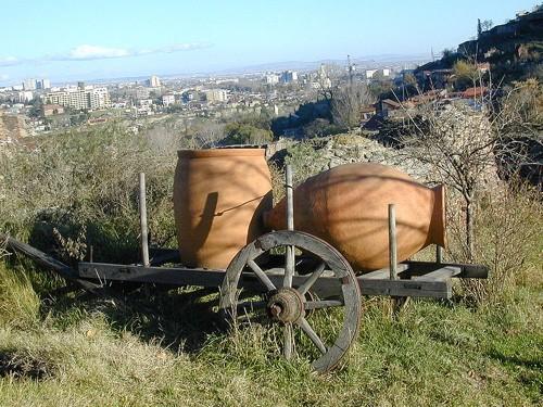 A Georgian kvevri, the traditional wine-making jug. Is it significant that these were often buried underground? - WIKIMEDIA COMMONS   NINO NAROZAULI