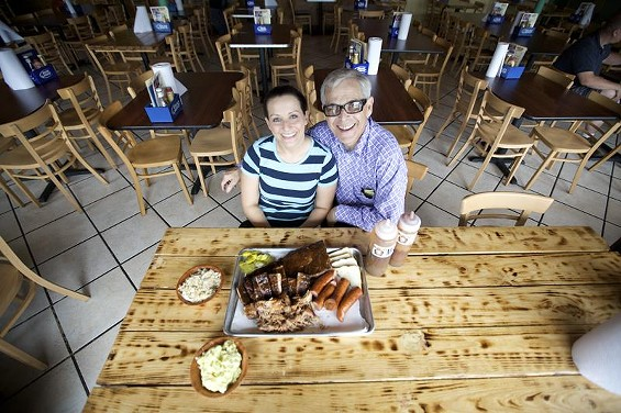 Larry and Angie Lampert, the father-daughter pair behind Plush Pig Barbeque - JENNIFER SILVERBERG