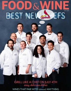 Kevin Willmann, owner and chef of Farmhaus, Food & Wine Best New Chef - Midwest, mondo Cardinals fan.