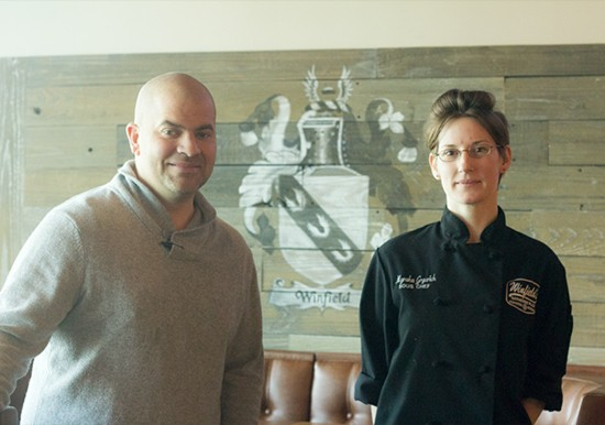 Owner Mark Winfield and executive chef Myraka Grgurich.