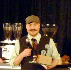 The best barista in the South Central region: Kaldi's Joe Marrocco.