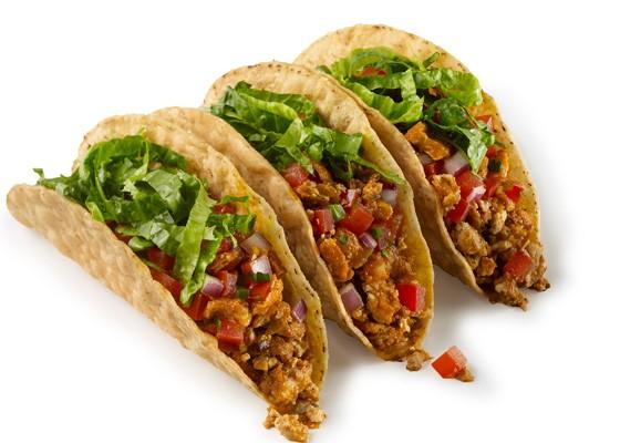 Chipotle sofritas tacos.   Courtesy Chipotle