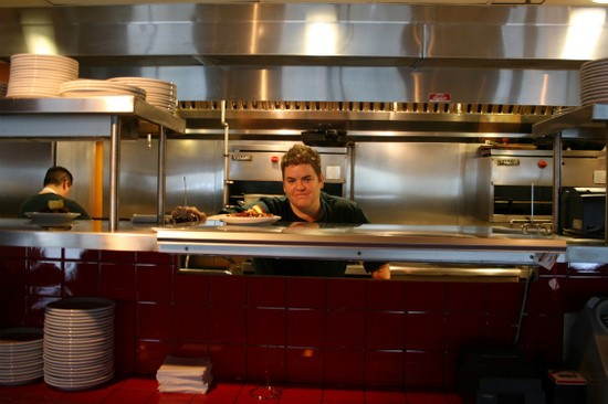 Grace Dinsmoor in the kitchen of Modesto last year - CHRISSY WILMES