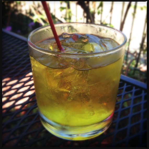 Gin with saffron-infused tonic.   Patrick J. Hurley