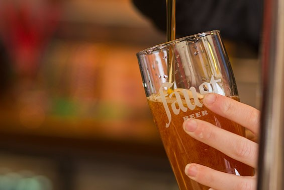 Faust beer, originally brewed in 1884, is only available on tap, and only in St. Louis. | Tom Carlson