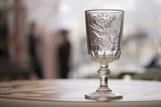 Since Faust was never bottled, Anheuser-Busch provided glasses like this one to restaurants and bars serving the popular brew. | Tom Carlson