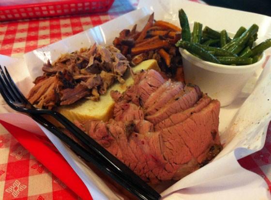 Pulled pork and brisket at Pappy's. | Liz Miller