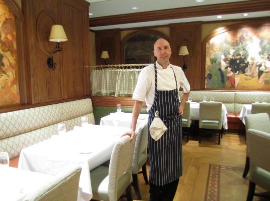 Chef John Griffiths of Truffles in the restaurant's dining room - AMANDA WOYTUS