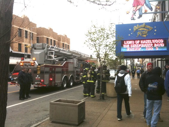 The University City Fire Department responds to a call from Blueberry Hill in the Delmar Loop on March 24, 2011 - KHOLOOD EID