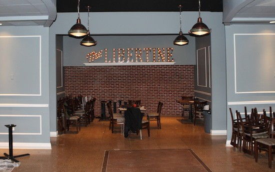 A Nashville craftsman built the Libertine sign overlooking the dining room. | Ian Froeb