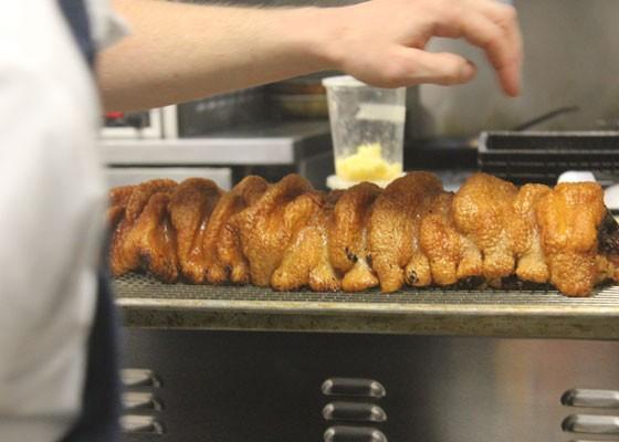 Porchetta, right out of the oven. | Nancy Stiles