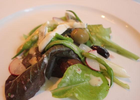 House garden greens salad.  Nancy Stiles