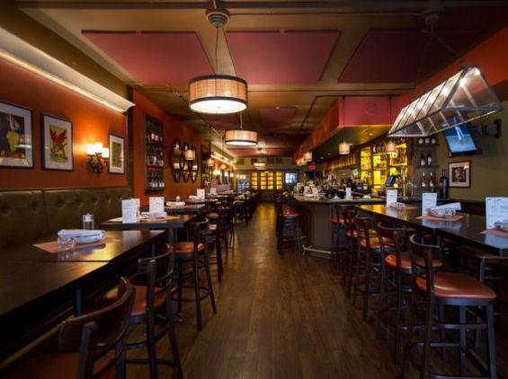 Inside Clayton's retooled Bocci Bar dining room. | Jennifer Silverberg