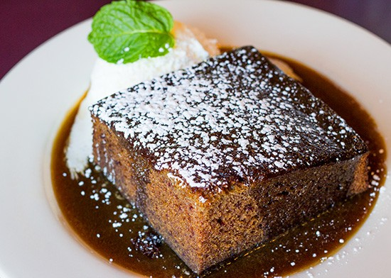 Schlafly's sticky toffee pudding. - MABEL SUEN