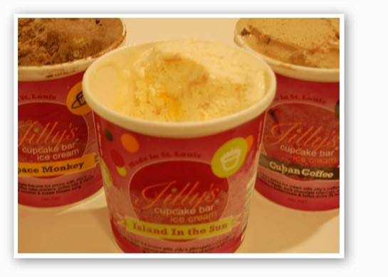 "Jilly's ""Space Monkey,"" ""Island in the Sun"" and ""Cuban Coffee"" ice cream flavors. 