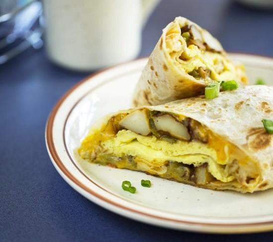 The breakfast burrito at Southwest Diner - JENNIFER SILVERBERG