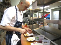 Chef John Griffiths at work. - RFT PHOTO