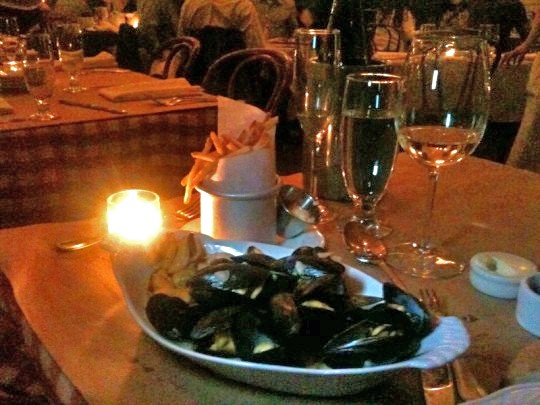 The lighting in Brasserie by Niche isn't conducive to great photos -- but believe us when we say the kitchen is highly conducive to good mussels.