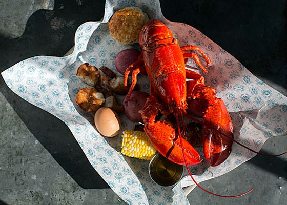Maine lobster boil. - JENNIFER SILVERBERG
