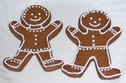 Gingerbread cookies: Not everyone is smiling. - IMAGE VIA