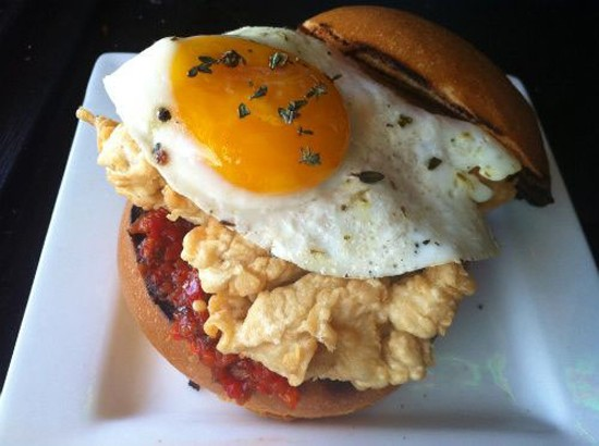 The Crow's Nest's take on the classic St. Louis Brain and Eggs. - HOLLY FANN